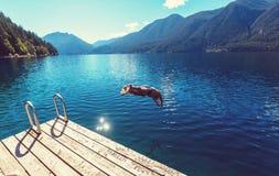 Lago a mezzaluna fotografie stock libere da diritti