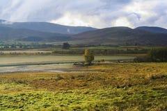 Lago Mhor in Scozia immagini stock