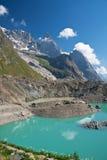 Lago Miage - composizione verticale Immagini Stock