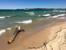 Lago Michigan alle dune dell'orso di sonno Immagini Stock Libere da Diritti