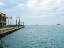 Lago Michigan del faro Immagini Stock Libere da Diritti