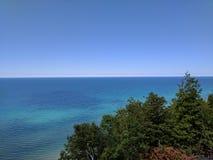 Lago Michigan lungo M-22 fotografie stock libere da diritti