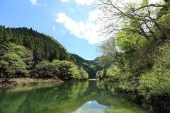 Lago Midori in Aichi, Giappone fotografie stock