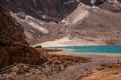 Lago milk, Aden Scenic Area en Szechwan Imágenes de archivo libres de regalías