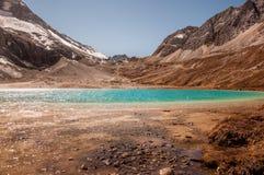 Lago milk, Aden Scenic Area en Szechwan Foto de archivo