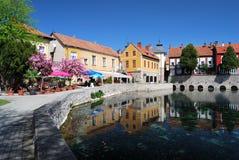 Lago mill, Tapolca in Ungheria Fotografia Stock