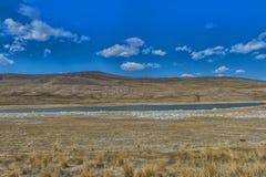 lago mineral en estepa Fotos de archivo