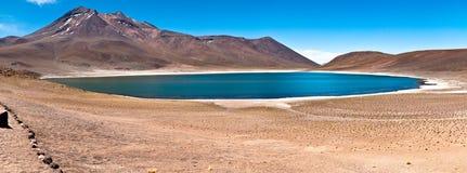 Lago Minique - Atacama imagenes de archivo