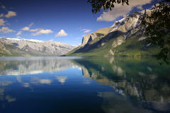 Lago Minnewanka Fotografia Stock