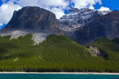 Lago Minnewanka Imagem de Stock Royalty Free