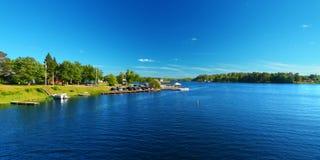 Lago Minocqua Wisconsin fotografie stock