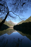 Lago mirror de Jiuzhaigou Fotos de Stock