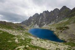 Lago mirror delle alte montagne Fotografia Stock Libera da Diritti