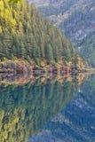 Lago mirror, Jiuzhaigou Imagens de Stock