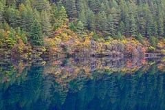 Lago mirror, Jiuzhaigou Foto de Stock Royalty Free
