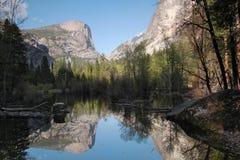 Lago mirror, Yosemite Foto de archivo