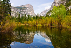 Lago mirror in Yosemite Immagini Stock