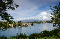 Lago Mission Viejo - Mission Viejo, Califórnia Fotografia de Stock