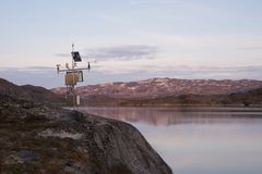 Lago misurato per idropotenza Fotografia Stock Libera da Diritti