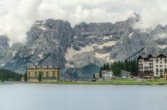 Lago Misurina Fotografía de archivo libre de regalías