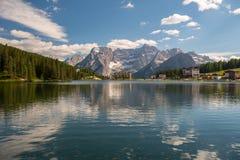 Lago Misurina, dolomia Immagine Stock