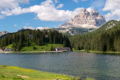 Lago Misurina, dolomites Fotografia de Stock Royalty Free