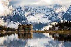Lago Misurina nel dolomiti Fotografie Stock