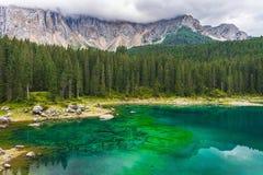 Lago Misurina nos cumes Foto de Stock