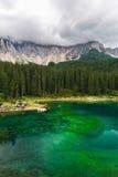 Lago Misurina nos cumes Fotografia de Stock Royalty Free