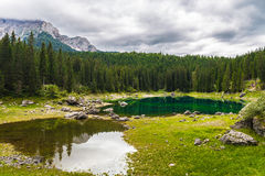 Lago Misurina nos cumes Foto de Stock Royalty Free