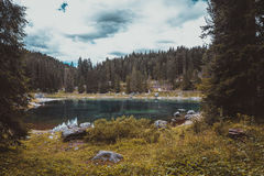 Lago Misurina nos cumes Imagens de Stock Royalty Free