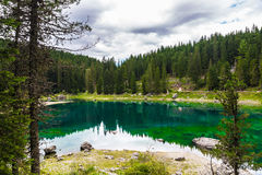 Lago Misurina nos cumes Fotos de Stock
