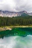Lago Misurina nos cumes Fotos de Stock Royalty Free
