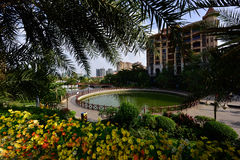 Lago moderno apartment do jardim Foto de Stock Royalty Free