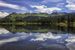Lago molas, San Juan Mountains, Colorado fotografia stock libera da diritti