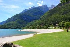 Lago Molveno Fotografia Stock Libera da Diritti