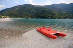 Lago Molveno Fotografie Stock Libere da Diritti