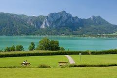 Lago Mondsee fotografia stock libera da diritti
