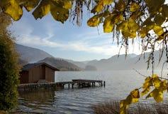 Lago Mondsee Immagine Stock Libera da Diritti