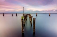 Lago Monroe Pier foto de stock
