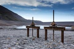 Lago mont Cenis vuoto Fotografia Stock Libera da Diritti