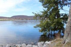Lago montañoso fotos de archivo