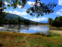 Lago in montagna fotografie stock libere da diritti