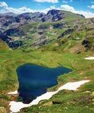 Lago in montagna di Rila, Bulgaria Fotografia Stock