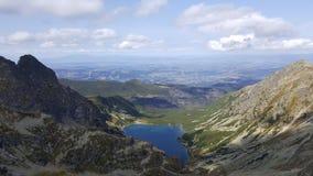 lago in montagna di tatra Fotografia Stock
