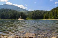 Lago montagnoso nei Carpathians Fotografia Stock Libera da Diritti