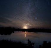 Lago moon Imágenes de archivo libres de regalías