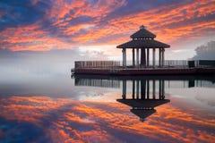 Lago moon di Sun, Nantou, Taiwan immagine stock libera da diritti