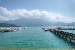 Lago moon di Sun, Taiwan Immagine Stock
