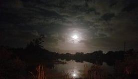 Lago moon fotografia stock libera da diritti